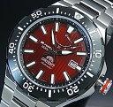 ORIENT/M-FORCE 200m Light Sports【オリエント/エムフォース】DIVER'S/ダイバーズウォッチ メンズ腕時計 自動巻 パワーリザーブ ワインレッド文字盤 メタルベルト