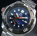 ORIENT/M-FORCE 200m【オリエント/エムフォース】DIVER'S/ダイバーズウォッチ メンズ腕時計 自動巻 パワーリザーブ ネイビー文字盤 メタルベルト MADE IN JAPAN 海
