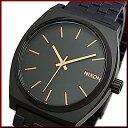 NIXON【ニクソン】TIME TELLER/タイムテラー ボーイズ 腕時計 オールブラック/ローズゴールド ブラック文字盤 ブラックメタルべルト【2015年新作】【送料無料】A045-957(国内正