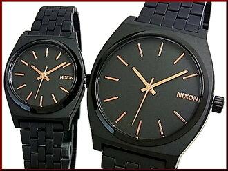 NIXONTIME 出納員 / 時間出納員 p PA 手錶手錶黑色 / 玫瑰金黑色字母版黑金屬在 g.A045-957/A399-957 (日本普通版)