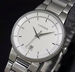 CITIZEN/Standard女士手錶白表盤金屬皮帶海外型號EU6010-53A