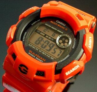 CASIO/G-SHOCK 걸프 맨 솔러 전파 손목시계 구출 오렌지 GW-9100 R-4 JF(국내 정규품)
