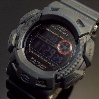 CASIO/G-SHOCK海夫人员人·in·垫子·黑色太阳能电波手表GW-9100MB-1海外型号