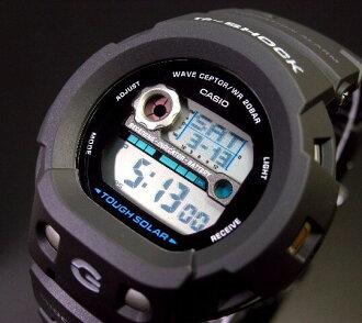 CASIO/G-SHOCKTHE-G SILENCER 솔러 전파 손목시계 블랙 러버 벨트 GW-400 J-1 JF(국내 정규품)