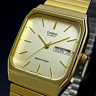 CASIO 맨즈 손목시계 아날로그 쿼츠 골드 문자판 골드 메탈 벨트 MQ-518 GAJ-9 A(해외 모델)