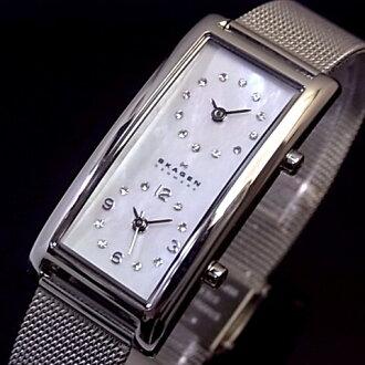 SKAGEN/ scar gene Lady's watch デュアルタイムホイワトシェル clockface metal belt 20SSSMP foreign countries model