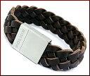 POLICE/accessory【ポリスアクセ】STREAK ブラウンメッシュレザー ブレスレットS【送料無料】PJ24412BLC01-S(国内正規品)
