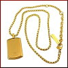 POLICE/accessoryPURITY mini-plate tag top stainless steel necklace gold 25988PSG02 (domestic regular article)