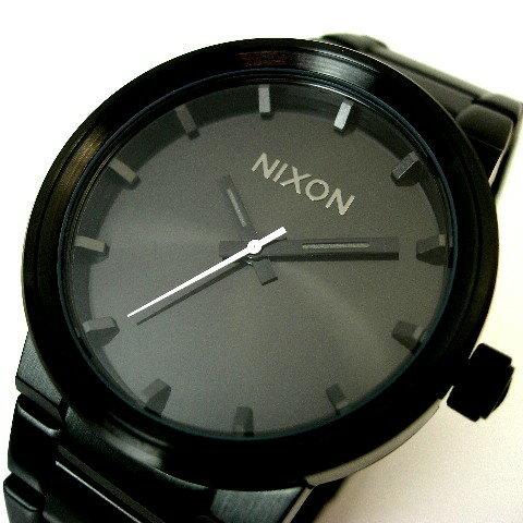 NIXON【ニクソン】THE CANNON メンズ腕時計 ALL BLACK【送料無料】A160-001(国内正規品)