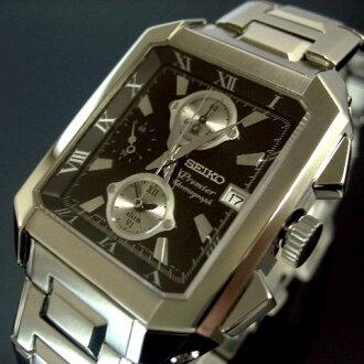精工/总理男式银金属腰带黑色字母板平方米 SNA743P1 (海外模型)