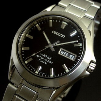 SEIKO/Quartz men's watch black letter Edition metal belt SJW043P1 overseas models