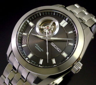 SEIKO/Mechanical Series self-winding watch men watch skeleton black clockface metal belt SARL001( domestic regular article)
