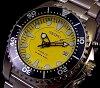 SEIKO/KINETIC diver mens watch yellow character Panel metal belt SKA367P1 (overseas model)