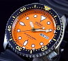SEIKO/Diver's watch Automatic Men's watch Rubber strap orange Dial MADE IN JAPAN SKX011J (reverse import model)