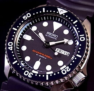 SEIKO/Diver's watch Automatic Men's watch Rubber strap black Dial MADE IN JAPAN SKX007J(reverse import model)