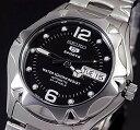 SEIKO/SEIKO5 Sports【セイコー5スポーツ/ファイブスポーツ】自動巻 メンズ腕時計 MADE IN JAPAN メタルベルト ブラッ…