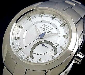 SEIKO/ARCTURA kinetic mens watch metal belt silver letter Board SRN007P1 overseas models