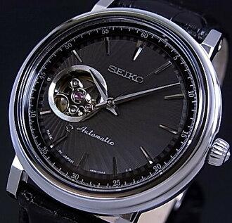 精工/预示着机械自动绕线男装看黑色表盘黑色真皮皮带 SSA017J1 取得日本海外模型中