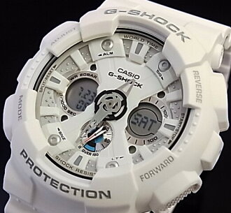 CASIO/G-SHOCK mens watch whole model white (regular products) GA-120A-7AJF