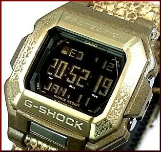 CASIO/G-SHOCK人手表广场型号黄金彩色蛇皮风格皮革皮带G-7800GL-9海外型号