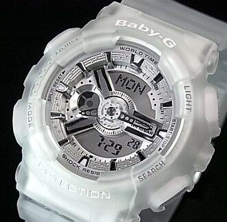 CASIO/Baby-G레이디스 손목시계 클리어 스켈리턴(해외 모델) BA-110-7 A2