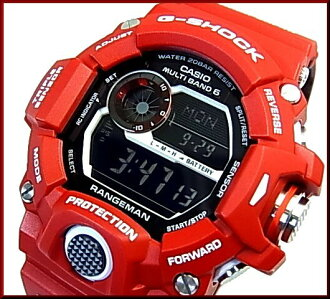 CASIO/G-SHOCK 멘・인・구출・레드/렌지만트리프르센서 탑재 솔러 전파 손목시계(국내 정규품) GW-9400 RDJ-4 JF