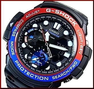 卡西欧/G-SHOCKGULFMASTER / 海湾主双传感器供电男式手表黑色和蓝色和红色 (日本普通版) GN-1000年-1AJF