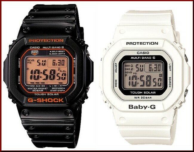 CASIO/G-SHOCK/Baby-G【カシオ/Gショック/ベビーG】ペアウォッチ ソーラー電波腕時計 ブラック/ホワイト(国内正規品)GW-M5610R-1JF/BGD-5000-7JF