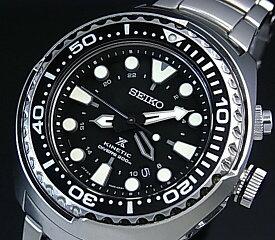 SEIKO/PROSPEX【セイコー/プロスペックス】キネテック GMT 200m防水空気潜水用ダイバーズ メンズ腕時計 ブラック文字盤 メタルベルト SUN019P1 海外モデル【並行輸入品】