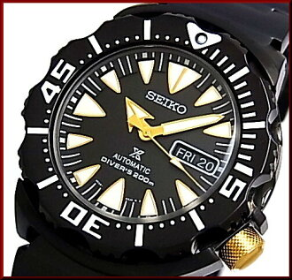 SEIKO/PROSPEX 200 m diver's watch automatic winding men's watch black metal belt black / gold letter Edition overseas model SRP583K1