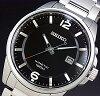 SEIKO/KINETIC men's watch black letter Edition metal belt SKA665P1 (overseas model)
