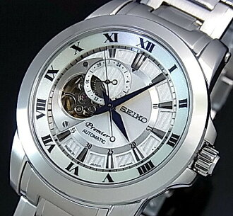 SEIKO/Premier automatic volume mens watch metal belt silver character machines MADE IN JAPAN overseas model SSA213J1