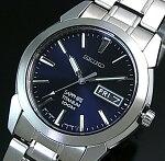 SEIKO/Quartz【セイコー/クォーツ】軽量チタンモデルメンズ腕時計メタルベルトネイビー文字盤SGG729P1海外モデル【楽ギフ_包装選択】