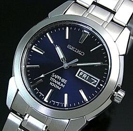SEIKO/Quartz【セイコー/クォーツ】軽量チタンモデル メンズ腕時計 メタルベルト ネイビー文字盤 SGG729P1 海外モデル【並行輸入品】