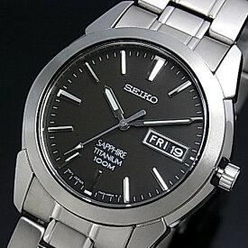 SEIKO/Quartz【セイコー/クォーツ】軽量チタンモデル メンズ腕時計 メタルベルト ブラック文字盤 SGG731P1 海外モデル【並行輸入品】