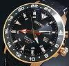 SEIKO/Sportura mens watch kinetic GMT pink gold case black letter Edition black leather belt SUN028P1 (overseas model)