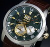 Special SEIKO/Premier kinetic perpetual calendar Novak Djokovic model mens watch brown leather belt green and gold letter Edition SNP127P1 (overseas model)