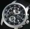 SEIKO/Premier chronograph men's watch black leather belt black letter Edition SPC161P2 overseas models