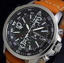 SEIKO/PROSPEX【セイコー/プロスペックス】メンズ ソーラー腕時計 アラームクロノグラフ ブラウンレザーベルト ブラッ…