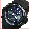 CASIO/G-SHOCK solar radio watch mens black / Navy (overseas model) AWG-M100SB-2A