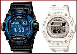 CASIO/G-SHOCK/Baby-G一對表手錶黑色/白(海外型號)G-8900A-1/BLX-100-7