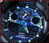CASIO/G-SHOCK an analog-digital mens Watch Blue Camoflage / black (overseas model) GA-100CB-1A
