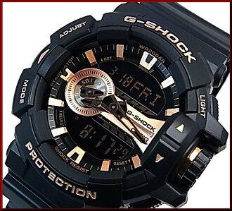 CASIO/G-SHOCK anadejimenzu手表黑色/玫瑰黄金(国内正规的物品)GA-400GB-1A4JF
