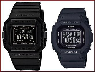 CASIO/G-SHOCK/Baby-G 쌍 감시 솔 러 전파 시계 블랙 (국내 정품) GW-5510-1BJF/BGD-5000MD-1JF