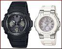 CASIO/G-SHOCK/Baby-G【カシオ/Gショック/ベビーG】ペアウォッチ ソーラー電波腕時計 ブラック/ホワイト(国内正規品)AWG-M100SBB...