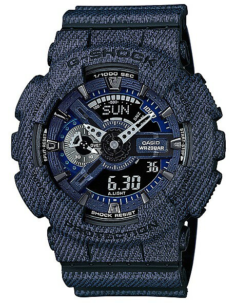 CASIO/G-SHOCK【カシオ/Gショック】メンズ腕時計 DENIM'D COLOR/デニム 海外モデル【並行輸入品】 GA-110DC-1A