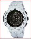 CASIO/PROTREK【カシオ/プロトレック】 ソーラー腕時計 トリプルセンサー搭載 ラバーベルト グレー/ブラック(海外モデル)PRG-300-7