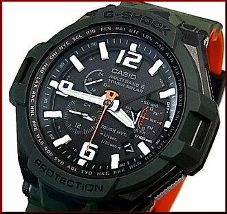 CASIO/G-SHOCKGRAVITYMASTER/그라비티 마스터 마스터・인・오리브드라브멘즈소라 전파 손목시계 오렌지/블랙(국내 정규품) GW-4000 SC-3 AJF