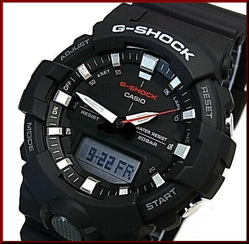 CASIO/G-SHOCK【カシオ/Gショック】アナデジモデル メンズ腕時計 ブラック 海外モデル【並行輸入品】GA-800-1A
