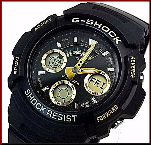 CASIO/G-SHOCK【カシオ/Gショック】デジアナモデル メンズ腕時計 ブラック/ゴールド 海外モデル【並行輸入品】AW-591GBX-1A9